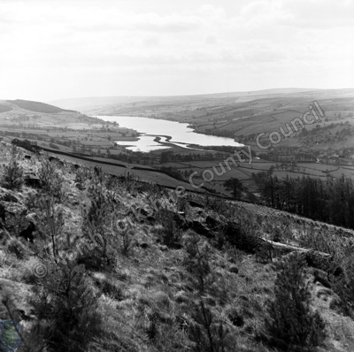 Gouthwaite Reservoir from above Ramsgill